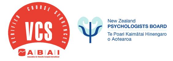 New Zealand Psychologist Board | Association for Behaviour Analysis International | Verified Course Sequences logo